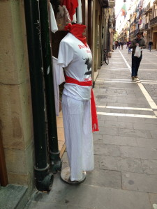 "Streets hosting ""Running of the Bulls"" festival"